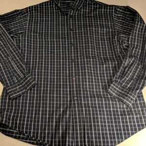 ROUNDTREE & YORK BUTTON DOWN SHIRT L